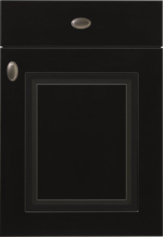 Front mebli kuchennych NOBILIA SYLT 851 czarny matowy, lakier - Kuchnie na wymiar - FM KUCHNIE Kraków