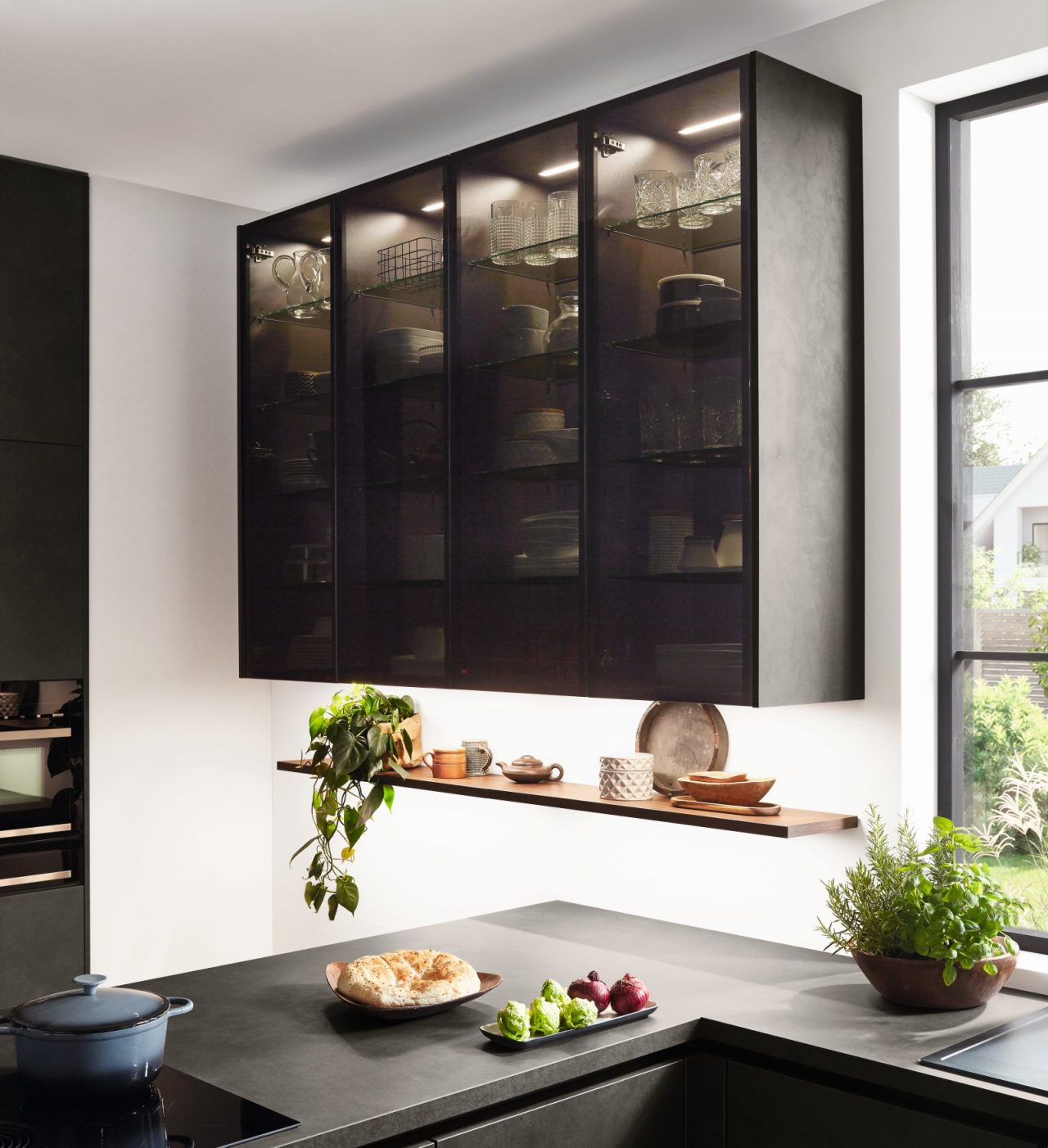 Meble kuchenne NOBILIA RIVA 839 szary terra beton, imitacja, melamina - Kuchnie na wymiar - FM KUCHNIE Kraków