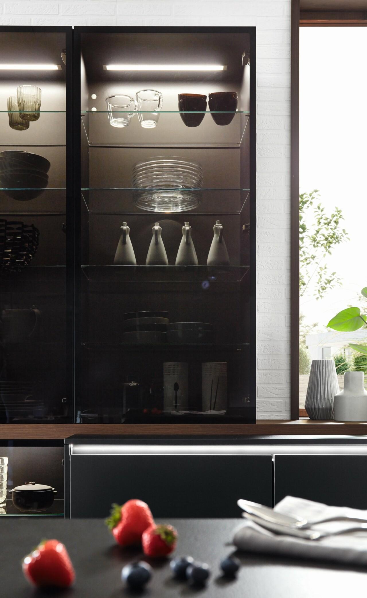 Meble kuchenne NOBILIA RIVA 840 orzech, imitacja, melamina - Kuchnie na wymiar - FM KUCHNIE Kraków