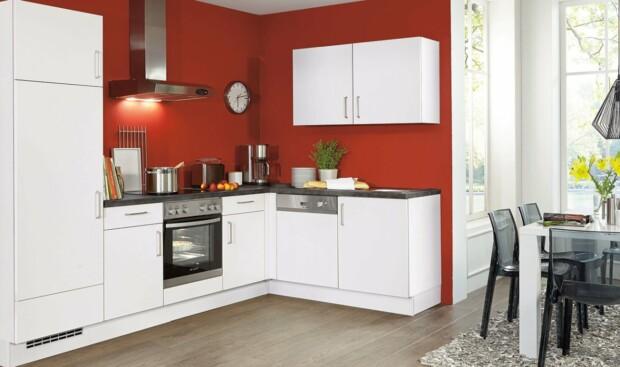 Nowoczesne kuchnie na wymiar NOBILIA SPEED 239 biały softmatowy, melamina - Narożna, otwarta zabudowa kuchenna - FM KUCHNIE Kraków
