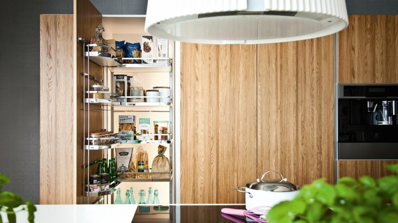 Nowoczesne kuchnie na wymiar ATLAS OKTAWIA biały mat lakier, dąb naturalny klepka - Meble kuchenne - FM KUCHNIE Kraków