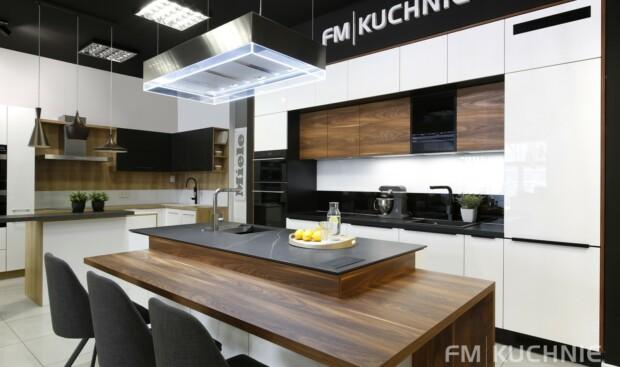 Kuchnie na wymiar Atlas Oktawia U-NELA biały połysk - Penelope palisander flader - Meble kuchenne Kraków -1- FM KUCHNIE Kraków