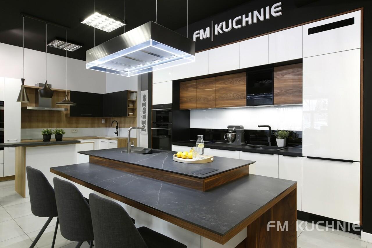 Kuchnie na wymiar Atlas Oktawia U-NELA biały połysk - Penelope palisander flader - Meble kuchenne Kraków -3- FM KUCHNIE Kraków