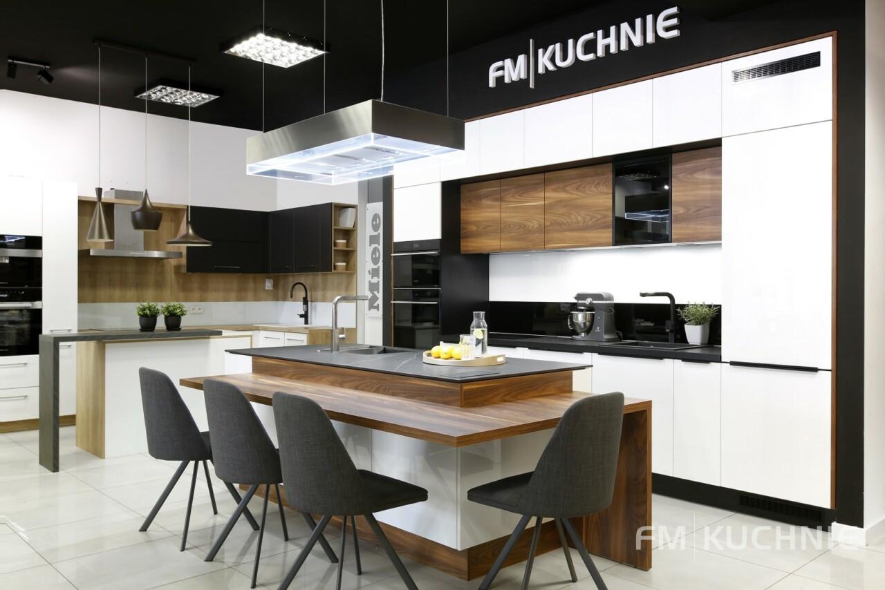 Kuchnie na wymiar Atlas Oktawia U-NELA biały połysk - Penelope palisander flader - Meble kuchenne Kraków -4- FM KUCHNIE Kraków