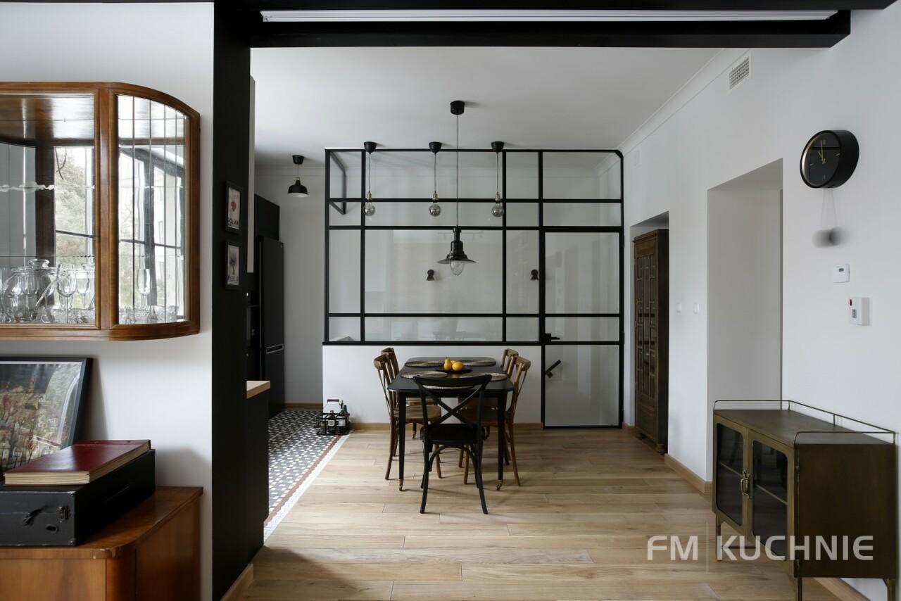 Kuchnia w zabudowie WFM Raso czarny mat P76F - Cornice kaszmir mat M135 - Meble kuchenne, kuchnie na wymiar -9- FM KUCHNIE Kraków