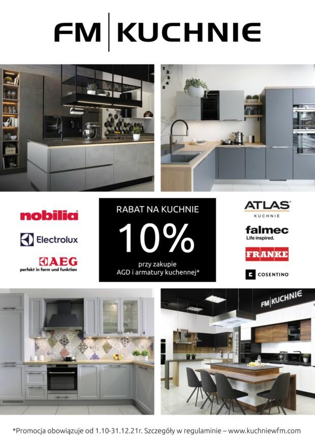Promocja - Rabat 10% na meble kuchenne przy zakupie AGD i armatury kuchennej - FM KUCHNIE Kraków