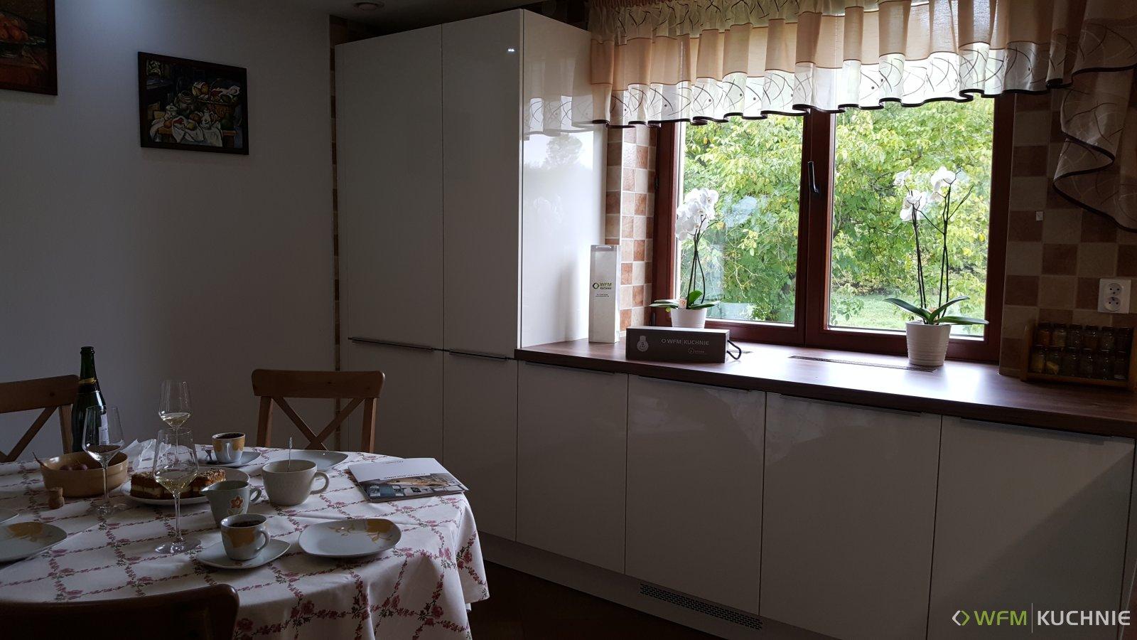 Kuchnia WFM CALMA wanilia połysk P102 - Meble kuchenne Kraków, kuchnie na wymiar Kraków - WFM KUCHNIE Kraków