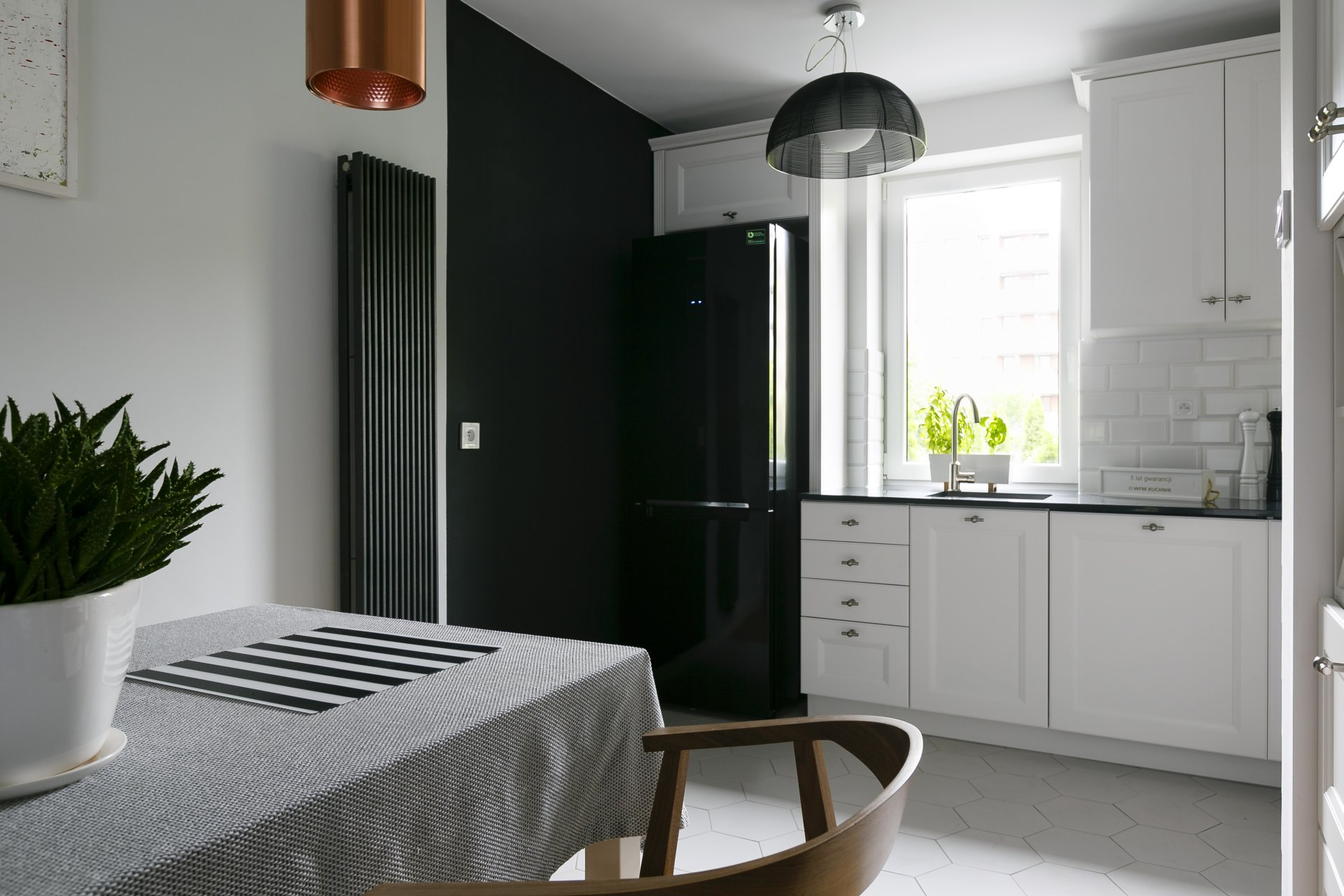 Kuchnia WFM Villa II M101 blat granit Negro Tebas Silestone - Kuchnie na wymiar Kraków, meble kuchenne Kraków | WFM Kuchnie Kraków