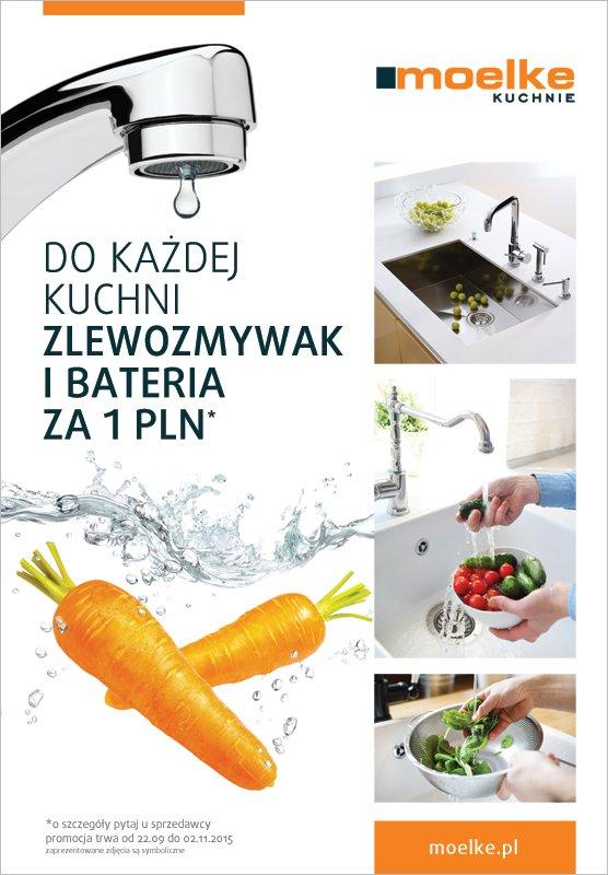 Do każdej kuchni zlewozmywak i bateria za 1 pln - Promocja na meble kuchenne Moelke - Kuchnie na wymiar Kraków | WFM Kuchnie Kraków