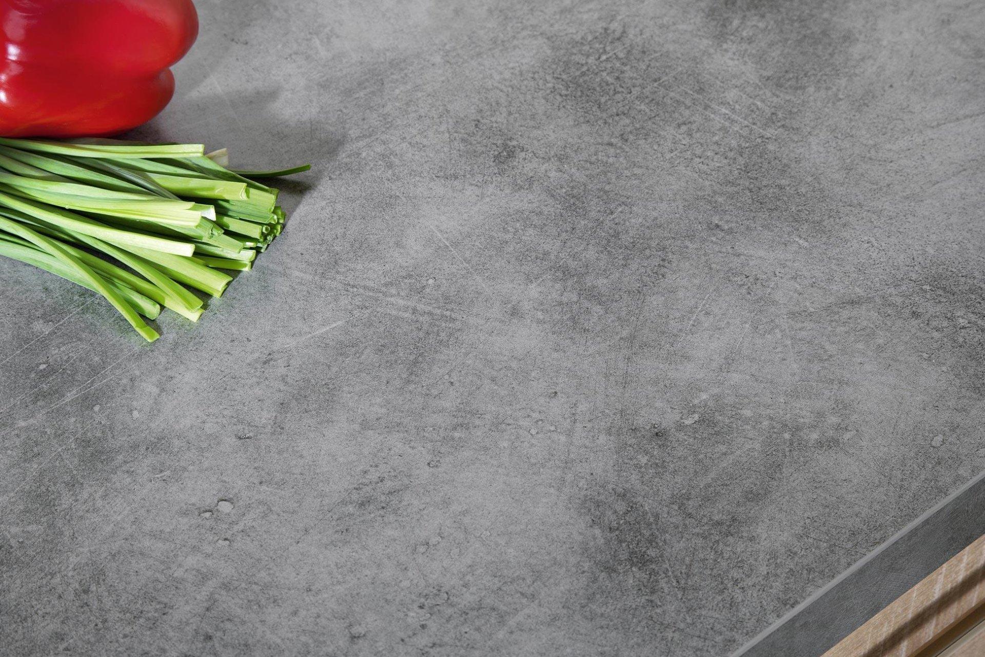 Meble kuchenne Moelke Lesto dąb naturalny brązowy | Linea alabaster supermat - Kuchnie na wymiar Kraków | WFM Kuchnie Kraków