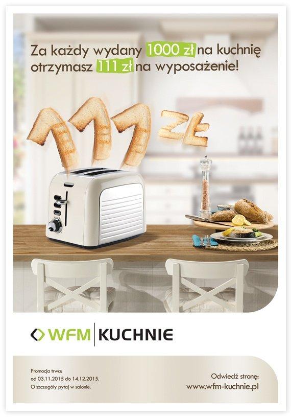 111 zł na wyposażenie za każdy 1000 zł wydany na kuchnię - Jesienna promocja na meble kuchenne WFM - Kuchnie na wymiar Kraków | WFM Kuchnie Kraków
