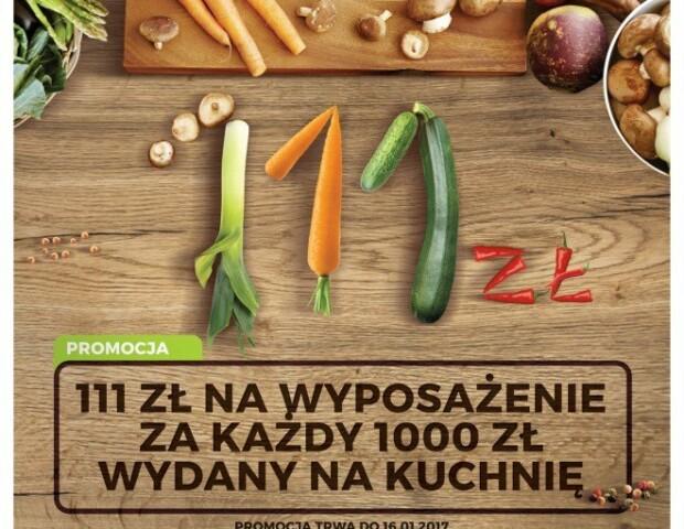 111 zł na wyposażenie za każdy 1000 zł wydany na kuchnię - Zimowa promocja na meble kuchenne WFM - Kuchnie na wymiar Kraków | WFM Kuchnie Kraków