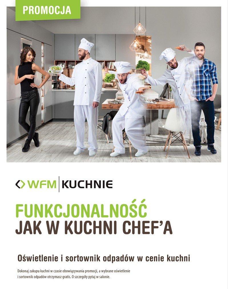 Funkcjonalność jak w kuchni Chef'a - Promocja na meble kuchenne WFM - Kuchnie na wymiar Kraków | WFM Kuchnie Kraków
