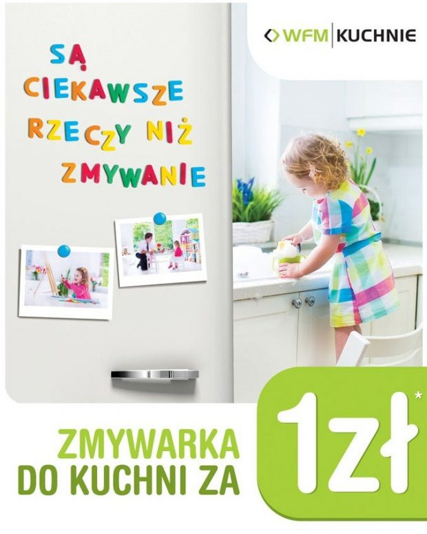 Zmywarka do kuchni za 1zł - Promocja na meble kuchenne WFM - Kuchnie na wymiar Kraków | WFM Kuchnie Kraków