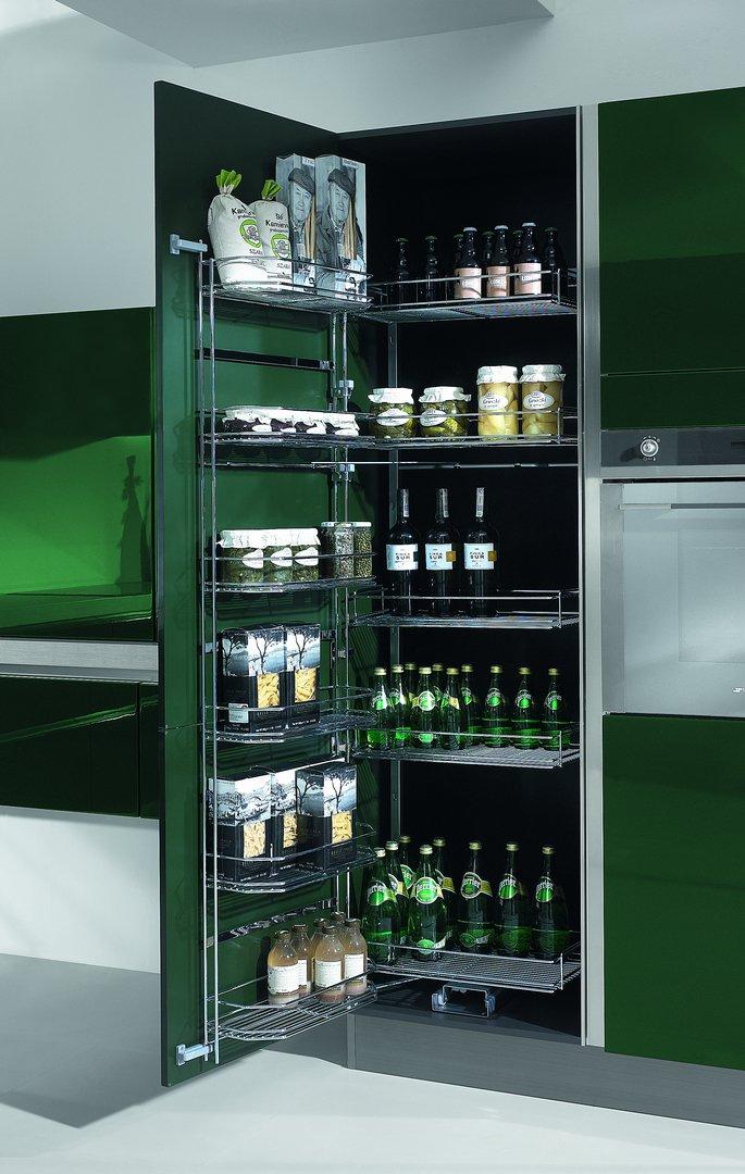 Kuchnia nowoczesna CALMA zielony butelkowy połysk - Nowoczesne kuchnie na wymiar Kraków, meble kuchenne Kraków | WFM Kuchnie Kraków